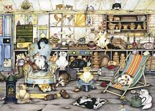 Ravensburger 14135 Crazy Cats In The Potting Shed Adults 500 Piece Jigsaw Puzzle