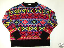 NWT Womens Ralph Lauren Nordic Fair Isle Crewneck Wool Cashmere Sweater S $398