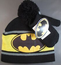 NEW DC Comics Batman Knit Hat Glove Set Infant Baby Super Hero  Costume
