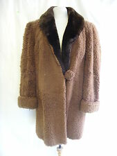 "Ladies Coat - Griffin & Spalding, 41"" chest, wool and fur, vintage, 60's? - 2267"