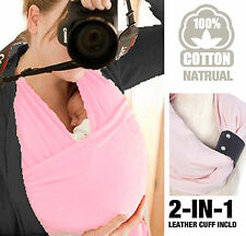 New Allis Baby Sling Wrap Carrier Birth to 3YRS Breastfeeding with Cuff
