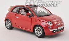 BBURAGO 1:24  FIAT 500C CABRIOLET RED 22117