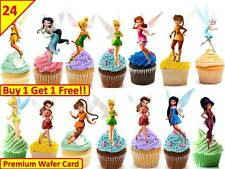 48 X TINKERBELL PRINCESS Edible Cup Cake Toppers Premium Wafer Party *STAND UP*