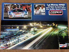 1985 LE MANS 24 HOURS POSTER - Spice Tiga GC85 - Group C2 Winners Bellm/Galvin
