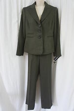 "Evan Picone Pant Suit Sz 8 Olive Green ""Costa Brava"" Business Dinner Pant Suit"
