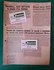 CLIPPING  NOTIZIE -AERONAUTICA- SUCCHIATA FUORI DALL'AEREO 1952