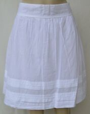 NEW!! NWT Ann Taylor LOFT White cotton pleated hem skirt  Sz 8 P