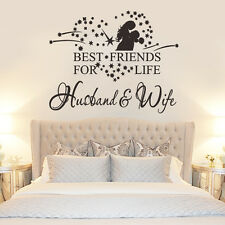 Best Friends for Life Husband&Wife Wall Quote Words Decals Art Removable CAWS