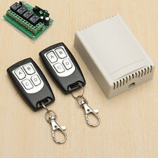DC 12V 4CH 200M Wireless Remote Control Relay Switch 2 Transceiver + Receiver
