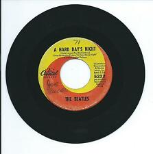 "1964 THE BEATLES ""A HARD DAY'S NIGHT"" 45rpm 7"""