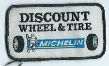 Discount Wheel & Tire dealer employee patch 2-1/2X4-1/2 McAlester OK Michelin