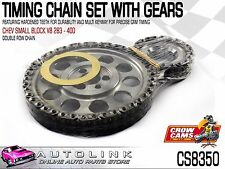 CROW CAMS TIMING CHAIN KIT WITH GEARS TO SUIT CHEV 283 - 400 SMALL BLOCK V8