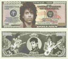 Prince Rodgers Nelson Commemorative Million Dollar Bills x 4 American Singer