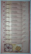 (PL) RM 10 ZC 0038601-10 UNC 2 ZERO LOW NICE FANCY NUMBER ZETI REPLACEMENT NOTE