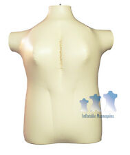 Inflatable Mannequin, Female Torso, Plus Size 2X Ivory