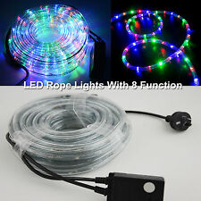 New 10M LED Rope Lights Colourful Flashing 8 Function Wedding Party Christmas de