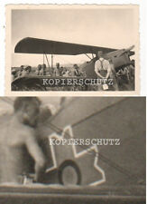 Original Foto Flugzeug mit unbekannter Kennung 2.WK
