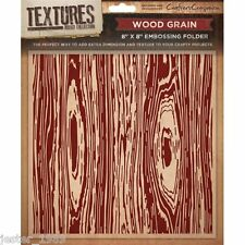 Crafters Companion Textures - 8x8 Embossing Folder - WOOD GRAIN -  EF5-WOOD