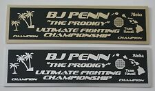 """BJ Penn """"The Prodigy"""" UFC nameplate for signed mma gloves photo or case"""