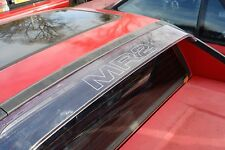 TOYOTA MR2 MK1  ' M R 2 ' rear roof clear visor aerofoil decal, sticker,  AW11