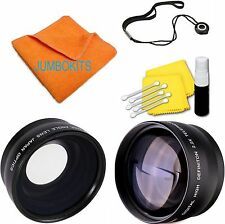 .43 FISHEYE & 2.2X Telephoto Lens for Nikon D3000 D3100 D3200 D3300 D5000 D5100