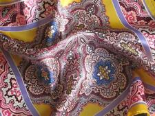 "New 14"" Satin 100% Silk Pocket Square Men's Handkerchief  Multi-Colored Paisley"