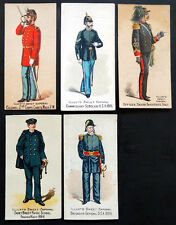 1880's N224 Antique KINNEY BROS TOBACCO Cigarettes MILITARY Trading Card Lot