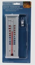 New! #5316 TAYLOR Large ~Easy To Read~ Window Thermometer w/ Bracket Adjustable!