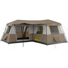 River Camping Large Tent 12 Person 3 Rooms 16'x16' Family Fishing Huge Big Cabin