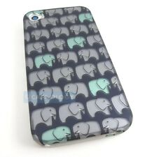 CUTE ELEPHANT PATTERN HARD CASE COVER FOR APPLE IPHONE 4 4S PHONE ACCESSORY