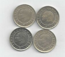 4 DIFFERENT 10 KURUS COINS from TURKEY (2009, 2010, 2011 & 2012)