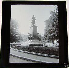 Glass Magic lantern slide STATUE IN HAARLEM C1900 THE NETHERLANDS