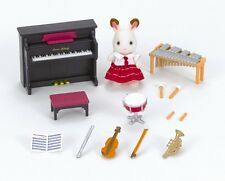 Calico Critters SCHOOL MUSIC SET 6 Instruments w Bell Hopscotch Rabbit ~NEW~