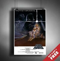 STAR WARS A NEW HOPE Poster A3 / A4 Episode IV Classic Movie Art Print Home Deco