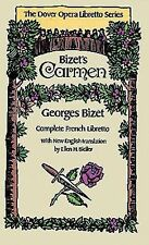 Carmen (Dover Opera Libretto Series) (French and English Edition), Georges Bizet