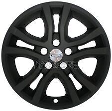 """4 MATTE BLACK 13-15 Chevy CAMARO 18"""" Wheel Skins Hub Caps Rim Covers Simulators"""