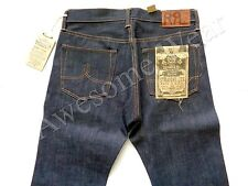New Ralph Lauren RRL Rigid Raw Denim Straight Leg Dark Wash Jeans size 40 x 32