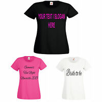 PERSONALISED HEN PARTY T-SHIRT TOP PINK, BLACK, WHITE HEN NIGHT T-SHIRTS S-XXXL