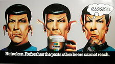 1975 Star Trek Mr Spock Beer Advertising Poster from UK- Original- FREE S&H