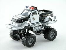 1:32 Big wheel pickup Police Car *light & sound* (Black) Die Cast Car boys toy