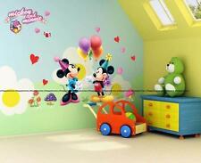 Disney MICKEY MINNIE MOUSE Palloncini Festa Adesivi Da Parete Decorazione