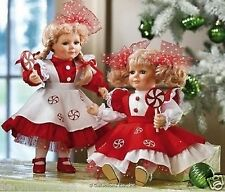 THE PEPPERMINT TWINS PORCELAIN DOLLS HERITAGE SIGNATURE COLLECTION NEW