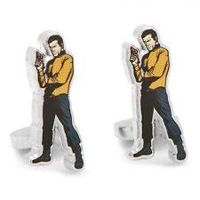 Star Trek Captain KIRK Cartoon Action Cufflinks New in Gift Box NIB 25% off!