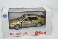 SCHUCO JUNIOR LINE 27105 SAAB 93 9.3 METALLIC GOLD MINT BOXED