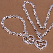 PROMO!!   Parure coeur collier + bracelet Guess argent estampillé 925.   NEUF!!!