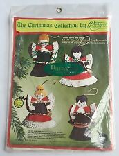 Choir Girls and Boys Christmas Ornament Kit Paragon Vintage 1976 Felt Sequins