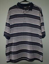 Ping Collection double mercerized cotton striped polo shirt mens size L