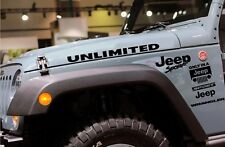 JEEP wrangler UNLIMITED hood set sticker decal  CJ, YJ, JK, UNLIMITED, RUBICON