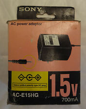 New Original Genuine Sony AC-E15HG 1.5v 700mA AC Power Adapter - Boxed