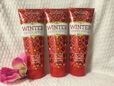 Lot 3 Bath & Body Works Winter Candy Apple 24 Hour Ultra Shea Body Cream